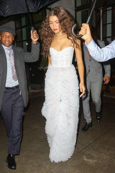 Zendaya leaving her hotel for ForeverMark NYC