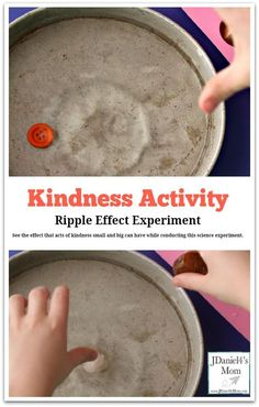 Kindness Activity Ripple Effect Experiment - This experiment illustrates how a small change like dropping an object into water can cause a ripple effect. This activity was created to go with the book book The Lion and The Mouse. It shares on a simple act Preschool Science, Preschool Lessons, Lessons For Kids, Science Activities, Activities For Kids, Manners Preschool, Preschool Friendship Activities, Kids Church Lessons, Children Church