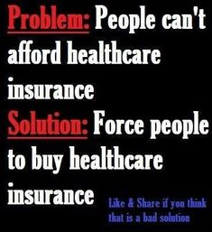 Take the #1 health care system and make it harder to get, more expensive and pack it with thousands of regulations! Why? Let's go back to what we had with 2 minor changes, insurance companies can sell over state lines and drug companies can no longer advertise!