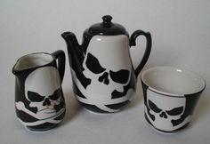 Jolly Roger Tea Set by gabrielle