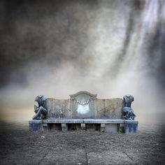 Premade BG Stonebench in a misty mood by E-DinaPhotoArt.deviantart.com on @deviantART