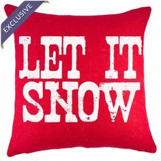 Let It Snow Pillow in Red