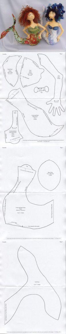 Светланкина Шкатулочка: русалка-выкройка