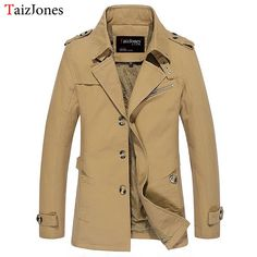 #Spring and autumn men #jacket casual washed long #outerwear, Get It Now: