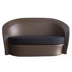 100 Essentials Eclipse Loveseat with Cushions Loveseat Finish: White, Loveseat Fabric: Sunproof Beige