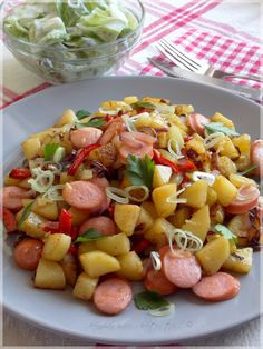 Fruit Salad, Potato Salad, Healthy Snacks, Cake Recipes, Food And Drink, Cooking Recipes, Tasty, Dishes, Ethnic Recipes