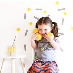 This picture makes us smile @myhipsterkid ☺ // our Classic Lemons make Lemonade Tee in Athletic Grey is available in our Shop! Our Lemons Collection comes in pullovers, tees and NOW Tanks!