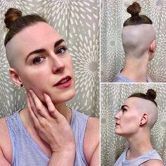 Undercut Ponytail, Shaved Undercut, Sleek Ponytail, Short Bob Hairstyles, Cool Hairstyles, Haircuts, Short Hair Cuts, Short Hair Styles, High And Tight Haircut