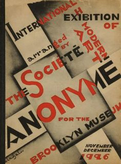 Collectif (El-Lissitzky, Man Ray, Kandinsky et divers)  International Exhibition of Modern Art arranged by the Société Anonyme for the Brooklyn Museum. November-December 1926. Conçu par Katherine S. Dreier & Constantin Aladjalov. Société Anonyme-MoMA, New York, 1926. In-8 (25,5 x 19 cm)