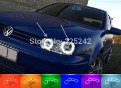 For Volkswagen VW Golf Mk4 1998-2004 Excellent Angel Eyes kit Multi-Color Ultrabright RGB LED Angel Eyes Halo Rings - http://www.aliexpress.com/item/For-Volkswagen-VW-Golf-Mk4-1998-2004-Excellent-Angel-Eyes-kit-Multi-Color-Ultrabright-RGB-LED-Angel-Eyes-Halo-Rings/32353321745.html