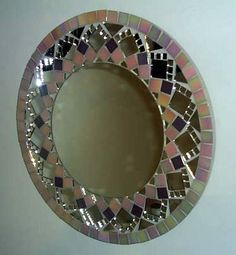 Mirror Mosaic, Mosaic Art, Round Mirrors, Mandala, Light Colors, Interior And Exterior, Paper Art, Art Decor, Stained Glass
