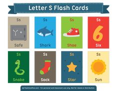 Free Printable Letter S Flash Cards English Activities, Vocabulary Activities, Kids Learning Activities, English Fun, English Lessons, Learn English, Free Printable Flash Cards, Printable Letters, Learning English For Kids
