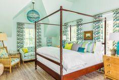 Beach House Bedroom, Dream Bedroom, Home Decor Bedroom, Bedroom Ideas, Master Bedroom, Coastal Bedrooms, Guest Bedrooms, Nice Bedrooms, Green Headboard