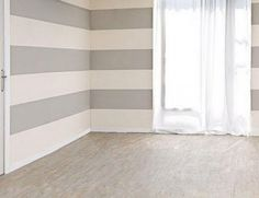 How To Paint Horizontal Stripes & Add Contemporary Design