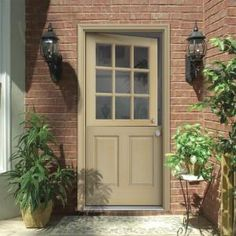 9 Lite Unfinished Dutch Fir Wood Prehung Front Door With Brickmould