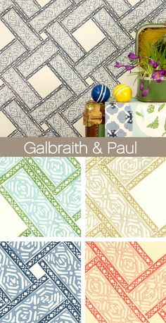 Galbraith and Paul - Parquet Fabric and Wallpaper 2014 #wallpaper #parquet