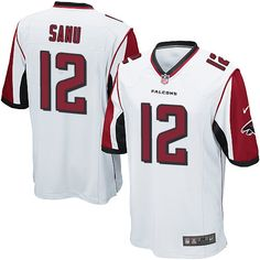 3b301dbb594 Men s Nike Atlanta Falcons  12 Mohamed Sanu Game White NFL Jersey