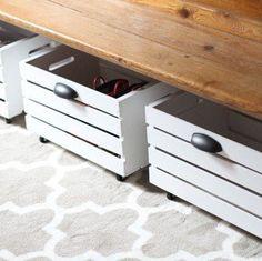 bedroom storage 8 Storage Solutions to Maximize Your Hidden Bedroom Space — Build a Better Bedroom # Shoe Storage Bins, Rolling Storage Bins, Crate Storage, Under Bed Storage, Storage Hacks, Hidden Storage, Diy Storage, Storage Solutions, Storage Ideas