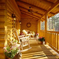 Log Home - for information on building a log home contact www.homedesignelements.com