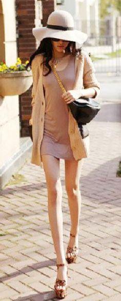 瘦出腿来,穿起衣衣来就是木一样~~_小菲女 - 美丽鸟