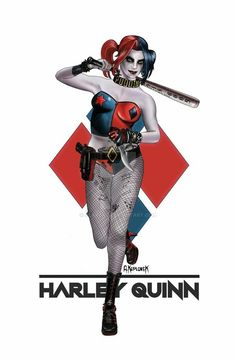 Harley Quinn Bloody Axe 2 ** Trading Card Art Signed By Rak ** Dc Comics New Fine Quality Collectibles