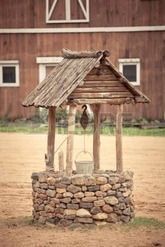 Picture of ancient wishing well of old western building stock photo, images and stock photography. Old Wagons, Water Well, Wishing Well, Commercial Design, Royalty Free Photos, Westerns, Gazebo, Wellness, Outdoor Structures