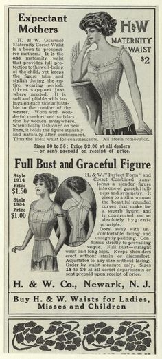 Expectant Mother's H Maternity Waist, 1910