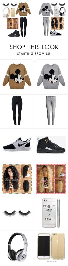 """Untitled #260"" by xoxoryssa on Polyvore featuring J Brand, NIKE and Beats by Dr. Dre"