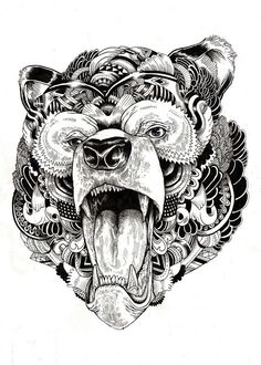 Bear tattoo... Would love this on my thigh