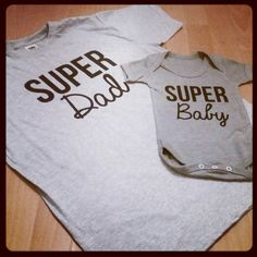 Super Dad T Shirt Baby Matching Father Son Set Daddy Daughter Gift Fathers Day New Present Birthday