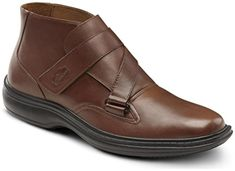 Dr. Comfort Mens JOSEPH Brown Diabetic Extra Depth Dress Velcro Boot (14W, Brown) - Brought to you by Avarsha.com