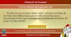 """MISIONEROS DE LA PALABRA DIVINA: MEDITACIÓN DEL EVANGELIO - """" PON LOS CIMIENTOS…"""