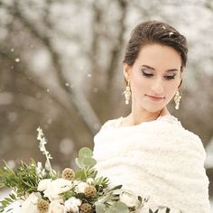 """fe76bf9c95134d Luxury Bridal Jewellery on Instagram: """"Wintertime in the shades of gold  ❄💛❄💛❄ Photo by @namekphoto . #anelle #anellebridal #swarovski #crystals  ..."""