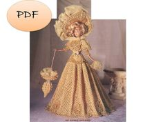 Vintage Barbie Dress Crochet Pattern PDF