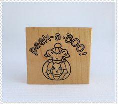 Vintage Rubber Stamp NOS Unused PEEK-A-BOO by RaindropVintageShop