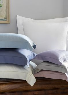 SFERRA's best-selling Egyptian Cotton Sateen, Fiona, now available in Dusty Blue.