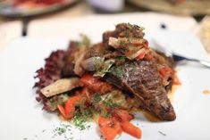 Bravčová krkovička s cesnakom a paradajkami Steak, Pork, Beef, Red Peppers, Kale Stir Fry, Meat, Steaks, Pork Chops
