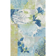 Fusion Flower Stems Multi 7 ft. 10 in. x 10 ft. 10 in. Indoor Area Rug