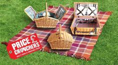 2 or 4 Person Luxury Wicker PICNIC BASKET Hamper Cutlery, Camping Outdoor Set  #Highlands #PicnicsHampers
