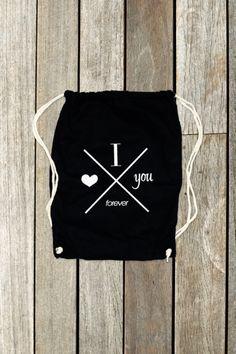 'I love you forever' gym bag... cute
