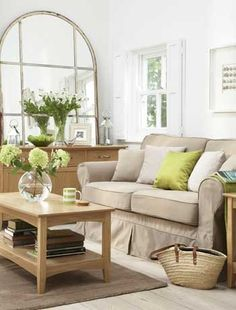 love this idea for a small living room