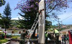 Policía Risaralda y comunidad de Belén de Umbría recupera parque de los fundadores