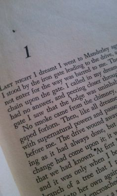 """Last night I dreamt I went to Manderley...."" Rebecca by Daphne du Maurier"