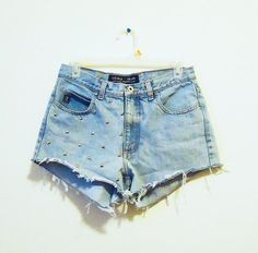 guess studded high waisted shorts