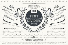Text dividers mini pack by Lisa Glanz on Creative Market