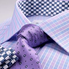 Our 2 Ply fabric consists of a very high thread count, creating shirts that are dense and long-lasting with a smooth and soft feel. Best Dress Shirts, Dress Shirt And Tie, Checkered Shirt Outfit, Shirt And Tie Combinations, Long Sleeve Fitted Dress, White Shirt Men, Create Shirts, Cash Money, Business Dresses