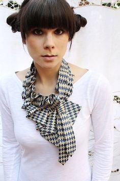 upcycled necktie/Etsy