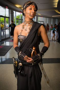 "Unusual cosplay mash up. ""Bollywood Steampunk"" -- created by DeviantArt's MakeupSiren and photographed by Andrew Williams."