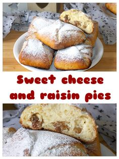 Sweet cheese and raisin pies – video recipe – isabell's kitchen Best Breakfast Recipes, Brunch Recipes, Dessert Recipes, Homemade Snickers, Homemade Pie, Easy No Bake Desserts, International Recipes, Raisin, Food Videos