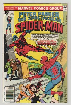 The Spectacular Spider-Man Vol. 1 Marvel Comics Titled Peter Parker, The Spectacular Spider-Man on its December 1976 debut, and shortened to simply The Spectacular Spider-Man with (Jan. Marvel Girls, Ms Marvel, Comic Books For Sale, Marvel Comic Books, Comic Books Art, Hulk Comic, Dc Comics, Avengers Comics, Batman Comics